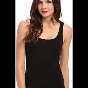 MICHAEL STARS Black Scoop Rib Tank